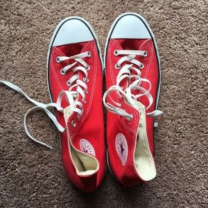 Like New Red Converse High Tops